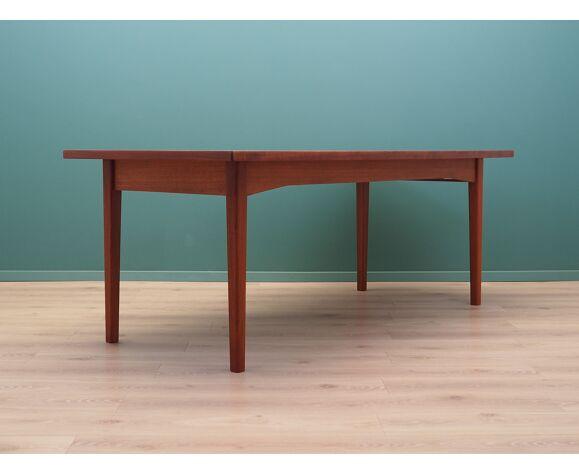 Table en teck, design danois, années 1960, fabriquée par Bjerringbro Savværk Møbelfabrik