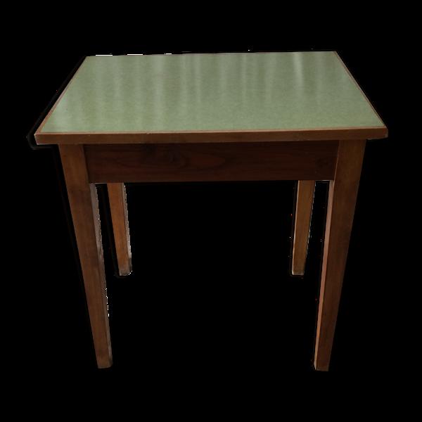 Ancien table cuisine bois & plateau formica 1960