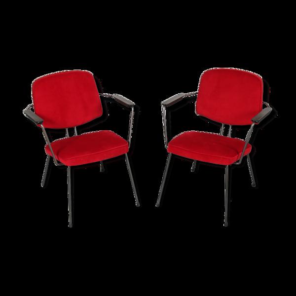 Selency Fauteuils conçus par Rudolf Wolf, fabriquées par Elsrijk aux Pays-Bas 1950