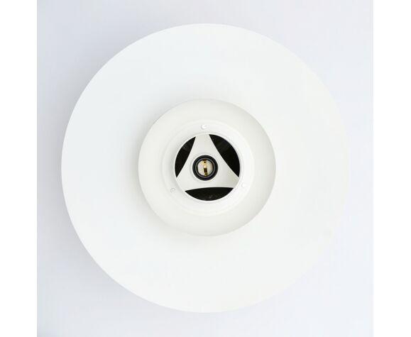 Danish Lyskaer White pendant lamp, 70'S