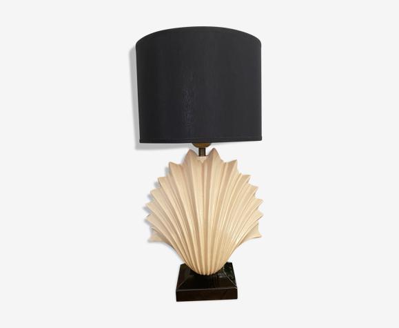 Lampe coquille céramique vintage années 80