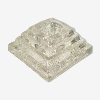 Bougeoir pyramide, ice design, 1970