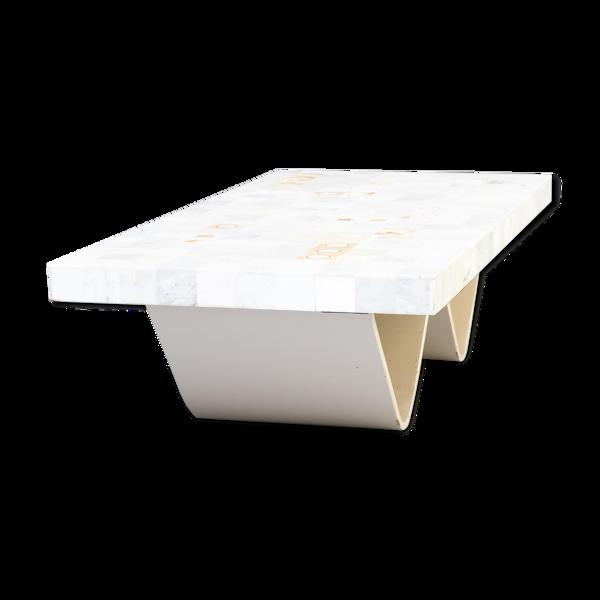 Table basse des années 60 en marbre de Carrare