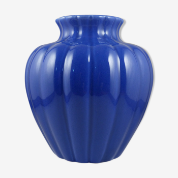 Vase en céramique bleu