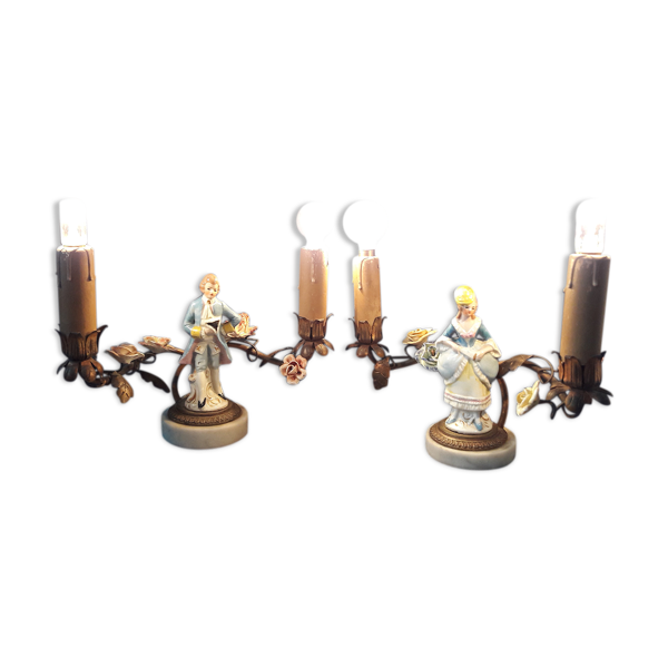 Lampes bougeoirs marquis baroque