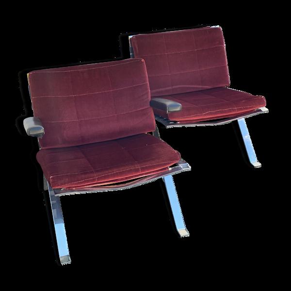 Paire de fauteuils par Hans Eichenberger pour Girsberger années 1960