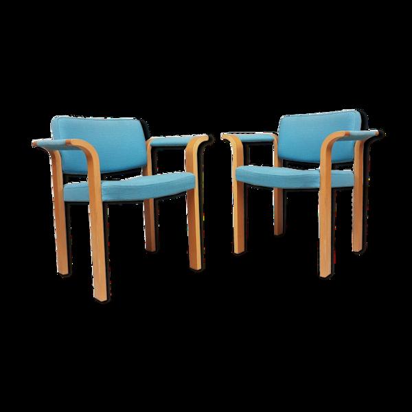 Ensemble de 2 fauteuils Magnus Olesen, design danois