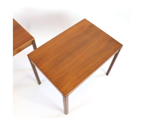 Paire de tables d'appoint en teck