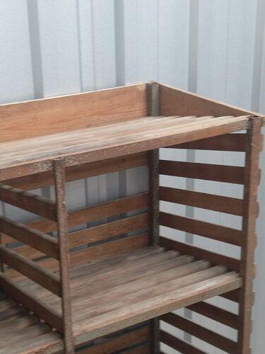 Wooden shelf on wheels