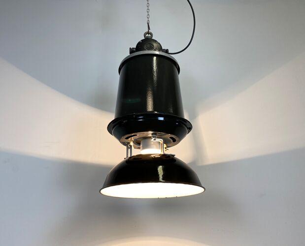 Industrial factory pendant lamp, 1960s