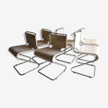 Lot de 6 chaises Biscia, design Pascal Mourgue éd. Steiner