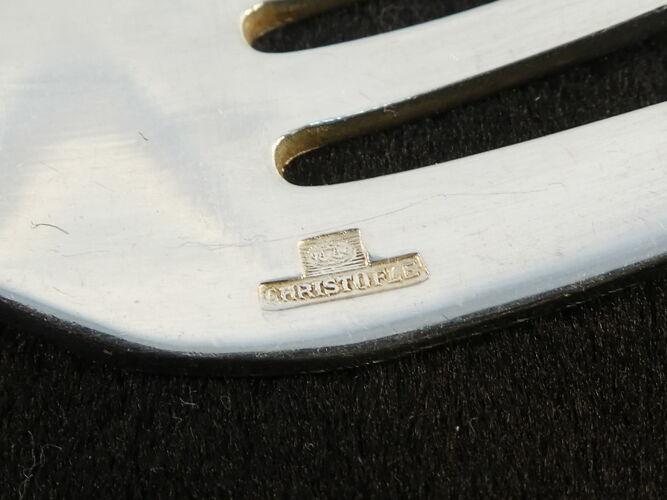 12 fourchettes a gateau christofle art deco modele boreal par luc lanel