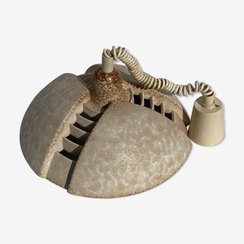 Travertin hanging pendant suspension lamp