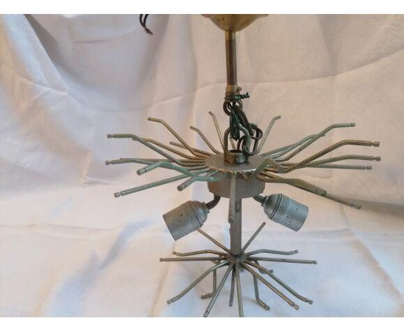 Lustre Triedri en verre de Paolo Venini  murano Italy