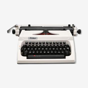 Machine à écrire Erika 173 Blanche collector révisée ruban neuf