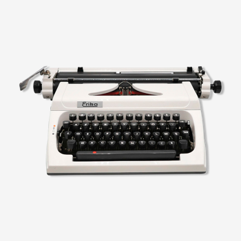 Typewriter Erika 173 White collector revised ribbon new