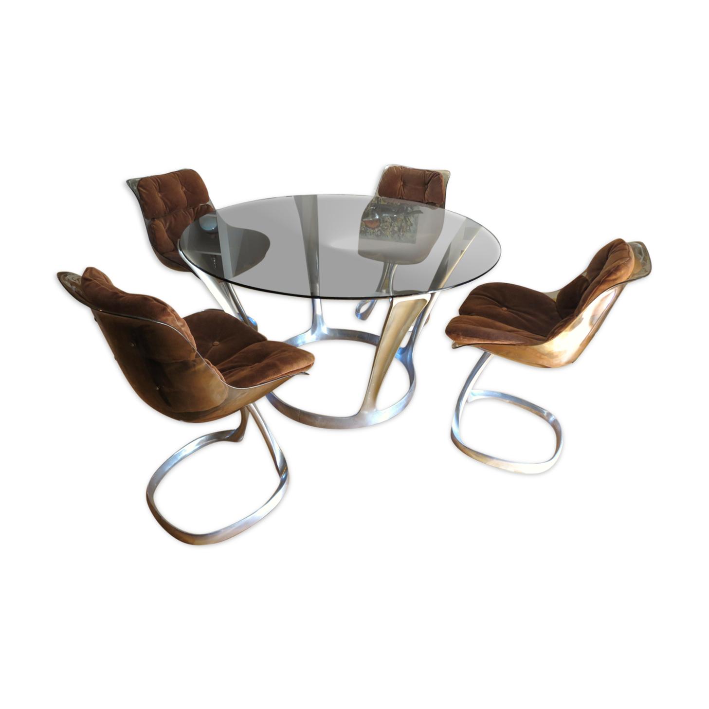 Ensemble table à manger et chaises  Michel Charron
