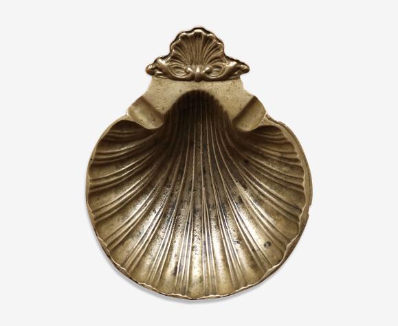 Vide-poche coquillage en laiton doré