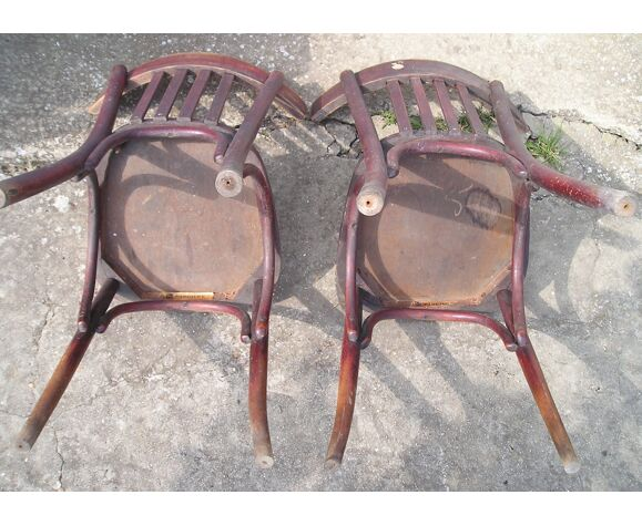 Paire de chaises de bistrot Fischel