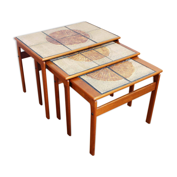 Selency Set de 3 tables gigognes scandinaves Trioh Denmark