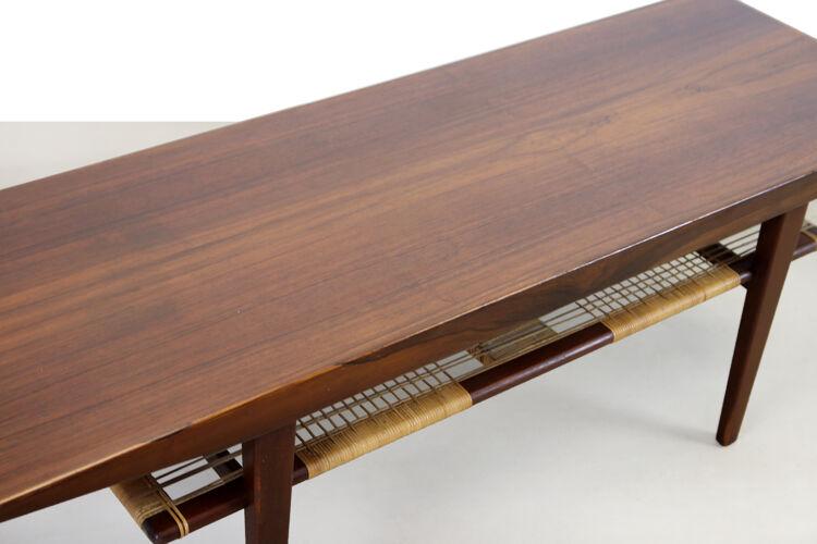 Table basse danoise en bois de rose des années 60