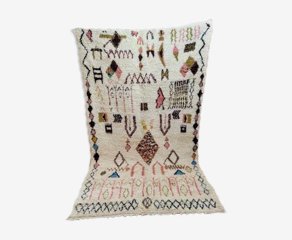 Tapis berbère marocain de style bohème 253 x 153cm