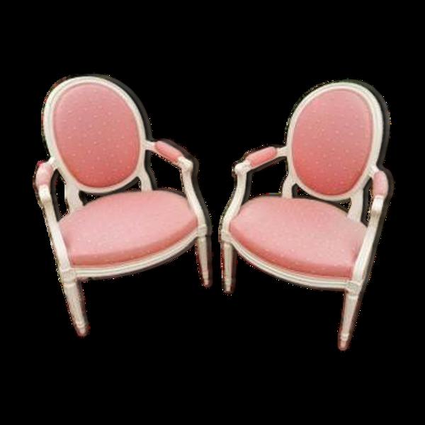 Paire de fauteuils Louis XVI époque 19ème