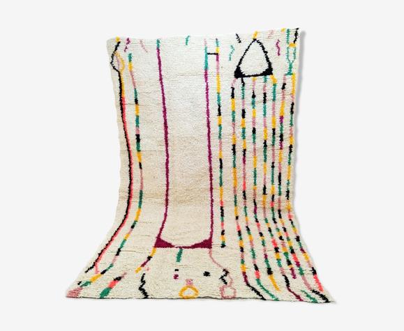 Tapis berbère marocain Azilal coloré 300 x 182cm