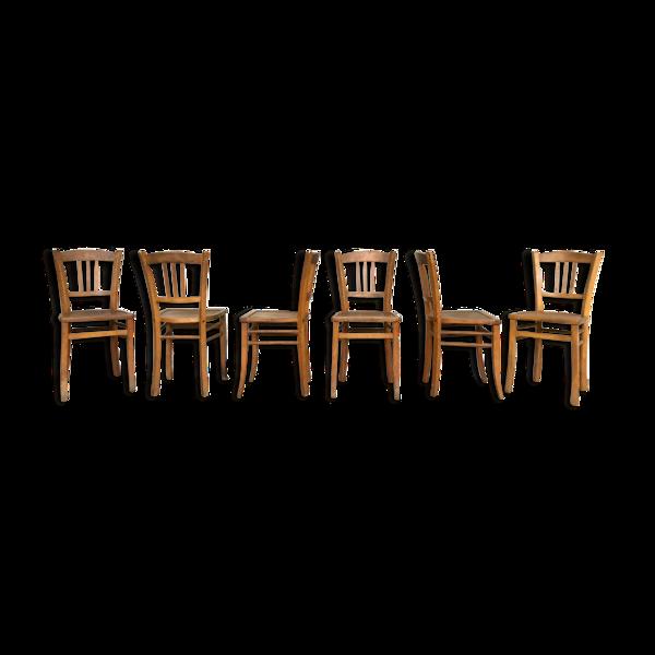 Série de 6 chaises bistrot Luterma vintage