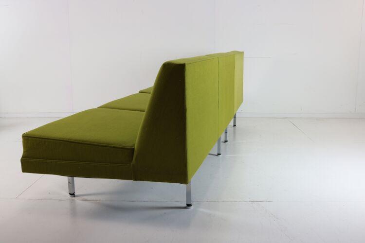 Canapé modulaire du milieu du siècle défini par George Nelson pour Herman Miller