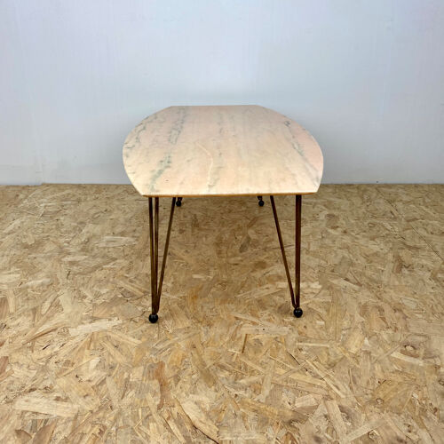 Marble toped coffee table mid century vintage