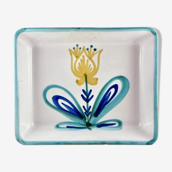Plat fleur céramique robert picault vallauris vintage ceramic 50