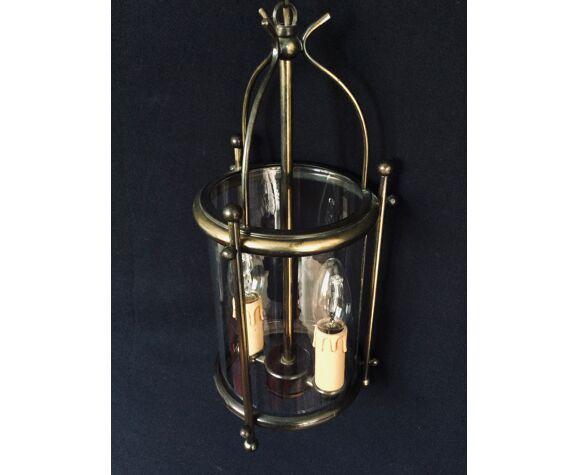 Lanterne 2 lumières en laiton