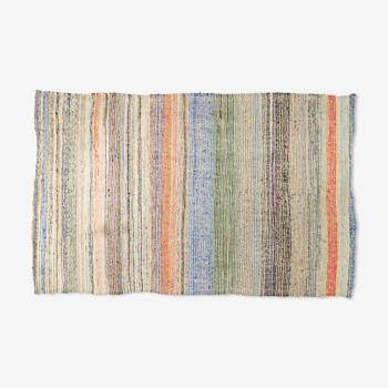 Tapis kilim anatolien fait à la main 239 cm x 137 cm