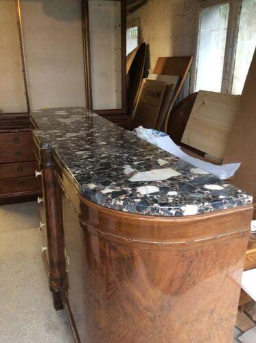 Enfilade art déco en bois et marbre