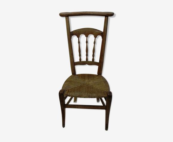Chaise prie dieu gravée Madame Graux