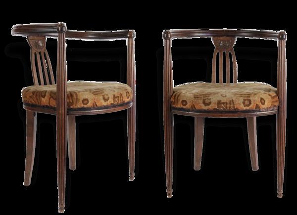 Paire de fauteuils d'époque Art-Déco