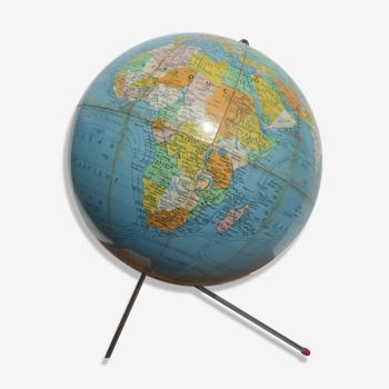 Globe terrestre tripode années 60