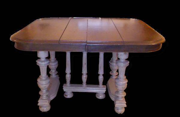 Table en chêne style henri 2