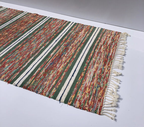 Tapis suédois tissé à la main coton artisanat