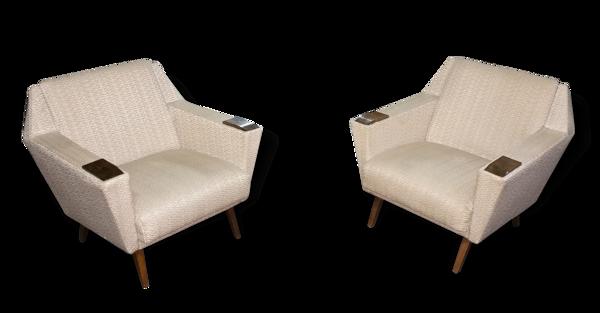 1/2 fauteuil  CLub scandinave esign Architectural  années 50 60 Danois