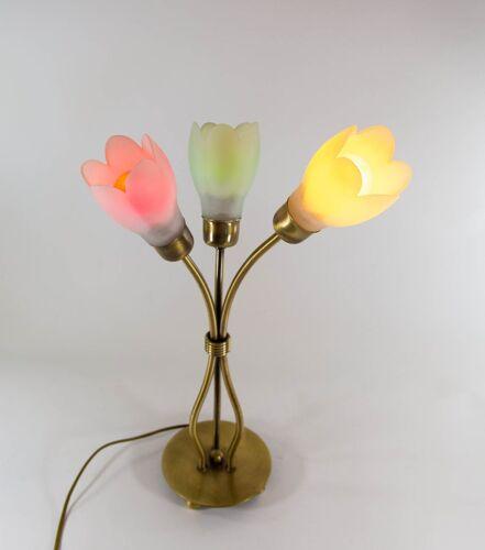 Lampe de forme florale années 80