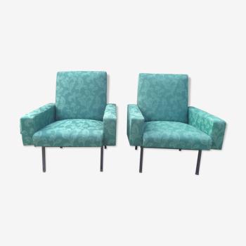 Vintage armchairs original fabric