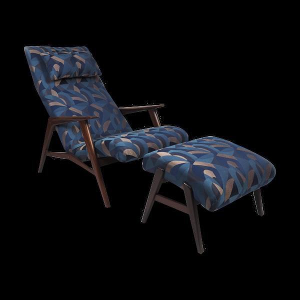 Chaise longue avec ottoman