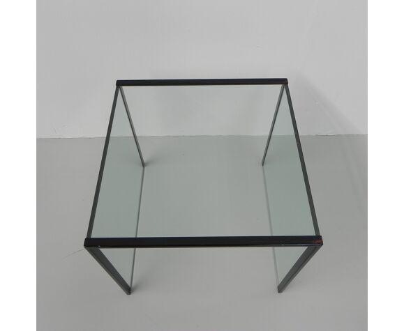 Table d'appoint en verre minimaliste