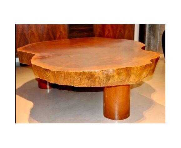 Table basse bois massif milieu XXème