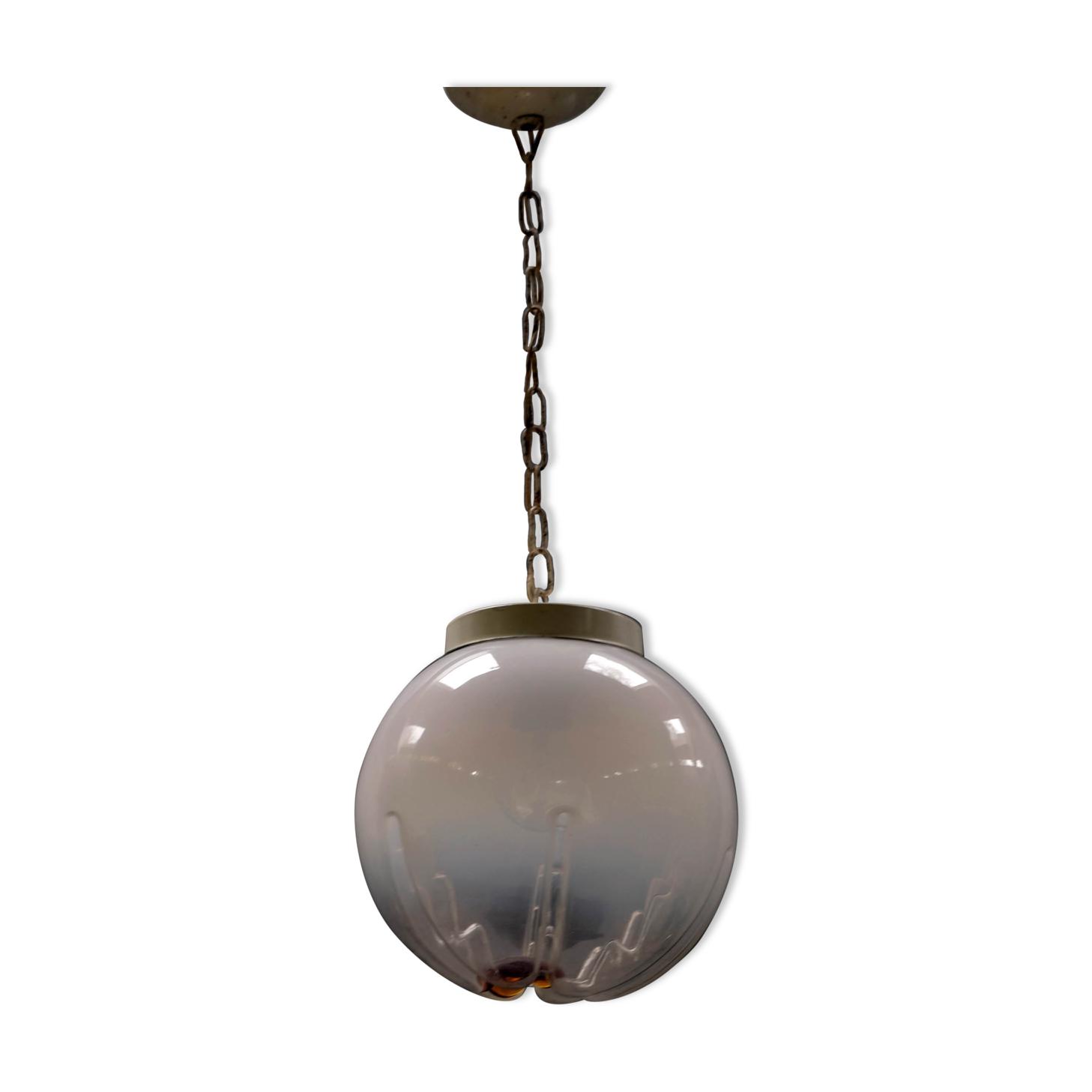 Lampe globe en verre de Murano vintage par Mazzega, Italie années 1960