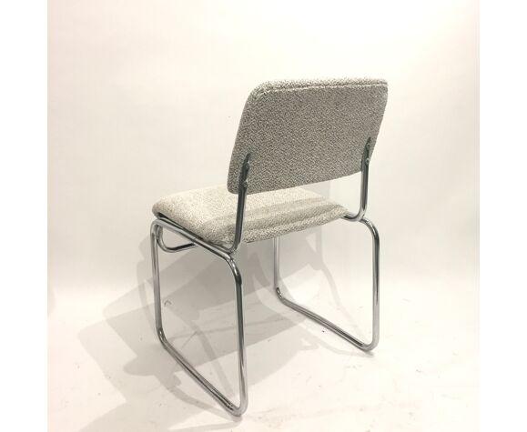 Paire de chaises traineau années 70