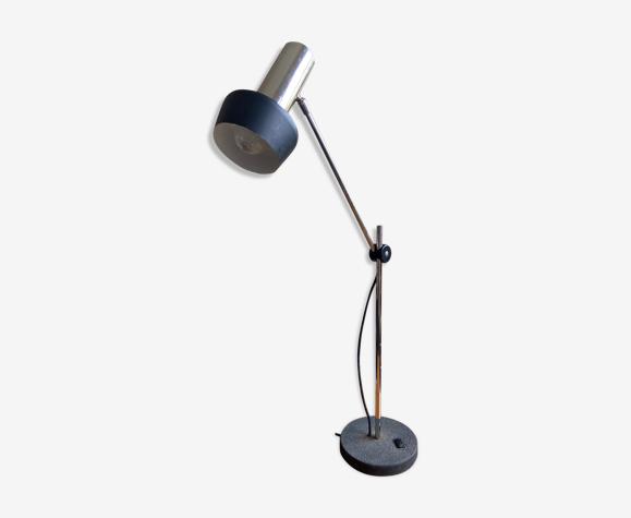 Lampe de table articulée en fonte et aluminium chromé