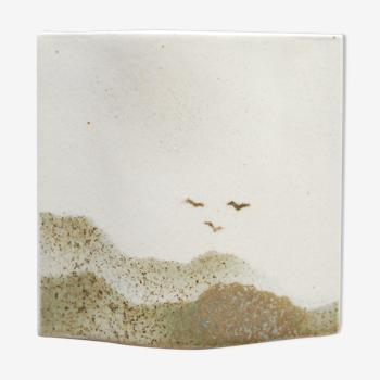 Vase vintage en céramique par la manufacture Virebent